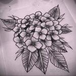 Фото татуировки цветок гортензия 31.03.2021 №117 - tattoo hydrangea - tatufoto.com