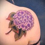 Фото татуировки цветок гортензия 31.03.2021 №118 - tattoo hydrangea - tatufoto.com