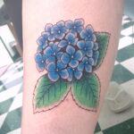 Фото татуировки цветок гортензия 31.03.2021 №123 - tattoo hydrangea - tatufoto.com