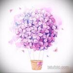 Фото татуировки цветок гортензия 31.03.2021 №126 - tattoo hydrangea - tatufoto.com