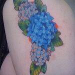 Фото татуировки цветок гортензия 31.03.2021 №128 - tattoo hydrangea - tatufoto.com