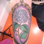Фото татуировки цветок гортензия 31.03.2021 №130 - tattoo hydrangea - tatufoto.com