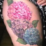 Фото татуировки цветок гортензия 31.03.2021 №132 - tattoo hydrangea - tatufoto.com
