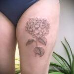 Фото татуировки цветок гортензия 31.03.2021 №134 - tattoo hydrangea - tatufoto.com
