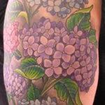 Фото татуировки цветок гортензия 31.03.2021 №143 - tattoo hydrangea - tatufoto.com