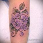 Фото татуировки цветок гортензия 31.03.2021 №146 - tattoo hydrangea - tatufoto.com