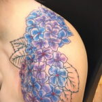 Фото татуировки цветок гортензия 31.03.2021 №147 - tattoo hydrangea - tatufoto.com