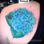Фото татуировки цветок гортензия 31.03.2021 №148 - tattoo hydrangea - tatufoto.com