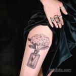 Фото татуировки цветок гортензия 31.03.2021 №150 - tattoo hydrangea - tatufoto.com