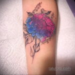 Фото татуировки цветок гортензия 31.03.2021 №151 - tattoo hydrangea - tatufoto.com