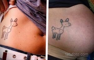 Фото беременная с тату 19.04.2021 №014 - pregnant tattoo - tatufoto.com