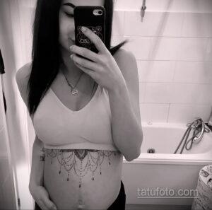 Фото беременная с тату 19.04.2021 №039 - pregnant tattoo - tatufoto.com