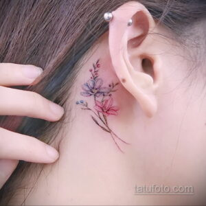 Фото интересного рисунка женской тату 05.04.2021 №007 - female tattoo - tatufoto.com