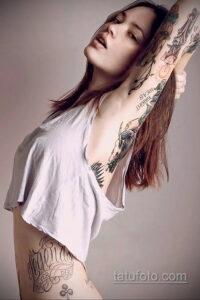 Фото интересного рисунка женской тату 05.04.2021 №029 - female tattoo - tatufoto.com