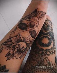 Фото интересного рисунка женской тату 05.04.2021 №034 - female tattoo - tatufoto.com