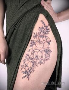 Фото интересного рисунка женской тату 05.04.2021 №039 - female tattoo - tatufoto.com