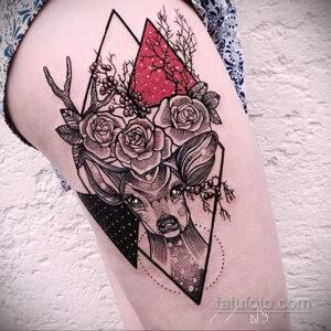 Фото интересного рисунка женской тату 05.04.2021 №047 - female tattoo - tatufoto.com