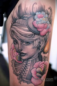 Фото интересного рисунка женской тату 05.04.2021 №051 - female tattoo - tatufoto.com