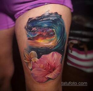 Фото интересного рисунка женской тату 05.04.2021 №075 - female tattoo - tatufoto.com