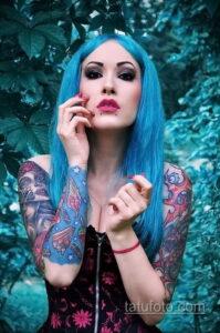Фото интересного рисунка женской тату 05.04.2021 №086 - female tattoo - tatufoto.com
