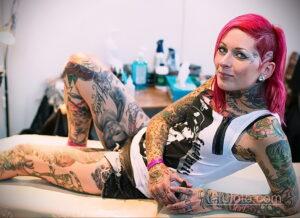 Фото интересного рисунка женской тату 05.04.2021 №087 - female tattoo - tatufoto.com