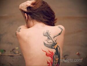 Фото интересного рисунка женской тату 05.04.2021 №098 - female tattoo - tatufoto.com