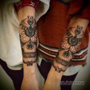 Фото интересного рисунка женской тату 05.04.2021 №126 - female tattoo - tatufoto.com