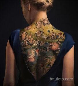 Фото интересного рисунка женской тату 05.04.2021 №128 - female tattoo - tatufoto.com