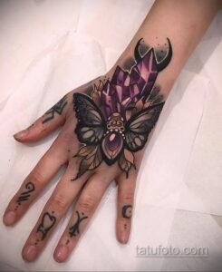 Фото интересного рисунка женской тату 05.04.2021 №133 - female tattoo - tatufoto.com