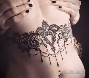 Фото интересного рисунка женской тату 05.04.2021 №160 - female tattoo - tatufoto.com