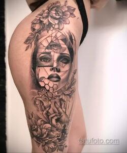 Фото интересного рисунка женской тату 05.04.2021 №202 - female tattoo - tatufoto.com