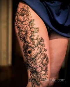 Фото интересного рисунка женской тату 05.04.2021 №205 - female tattoo - tatufoto.com