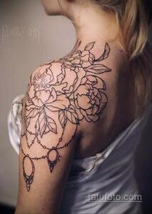 Фото интересного рисунка женской тату 05.04.2021 №213 - female tattoo - tatufoto.com