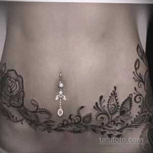 Фото интересного рисунка женской тату 05.04.2021 №235 - female tattoo - tatufoto.com