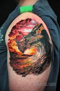 Фото интересного рисунка мужской тату 05.04.2021 №002 - male tattoo - tatufoto.com