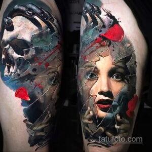 Фото интересного рисунка мужской тату 05.04.2021 №009 - male tattoo - tatufoto.com