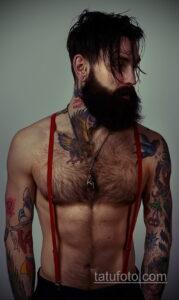 Фото интересного рисунка мужской тату 05.04.2021 №020 - male tattoo - tatufoto.com