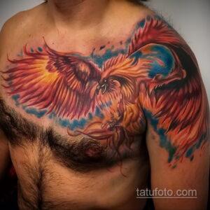 Фото интересного рисунка мужской тату 05.04.2021 №023 - male tattoo - tatufoto.com