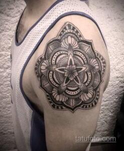 Фото интересного рисунка мужской тату 05.04.2021 №049 - male tattoo - tatufoto.com