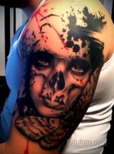 Фото интересного рисунка мужской тату 05.04.2021 №053 - male tattoo - tatufoto.com