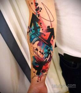 Фото интересного рисунка мужской тату 05.04.2021 №070 - male tattoo - tatufoto.com