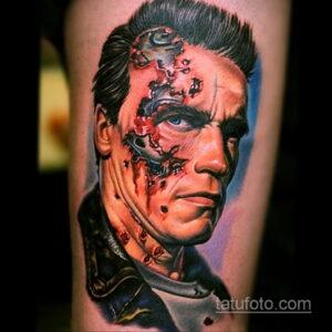Фото интересного рисунка мужской тату 05.04.2021 №078 - male tattoo - tatufoto.com
