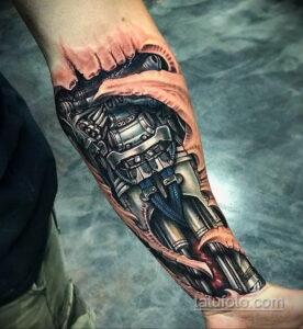 Фото интересного рисунка мужской тату 05.04.2021 №081 - male tattoo - tatufoto.com