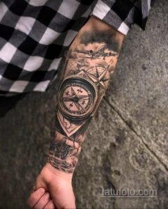 Фото интересного рисунка мужской тату 05.04.2021 №089 - male tattoo - tatufoto.com