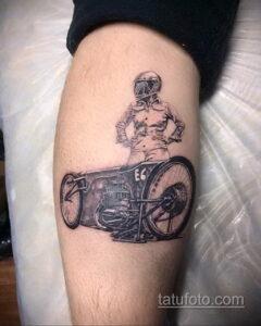 Фото интересного рисунка мужской тату 05.04.2021 №110 - male tattoo - tatufoto.com