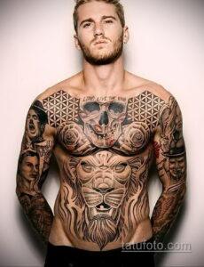 Фото интересного рисунка мужской тату 05.04.2021 №111 - male tattoo - tatufoto.com