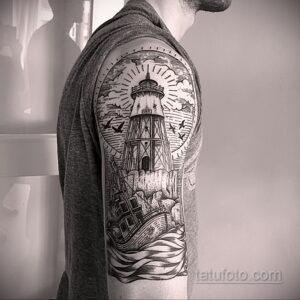 Фото интересного рисунка мужской тату 05.04.2021 №113 - male tattoo - tatufoto.com