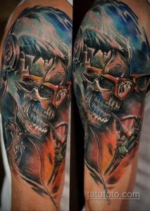 Фото интересного рисунка мужской тату 05.04.2021 №125 - male tattoo - tatufoto.com