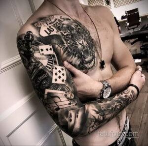 Фото интересного рисунка мужской тату 05.04.2021 №134 - male tattoo - tatufoto.com