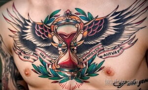 Фото интересного рисунка мужской тату 05.04.2021 №137 - male tattoo - tatufoto.com